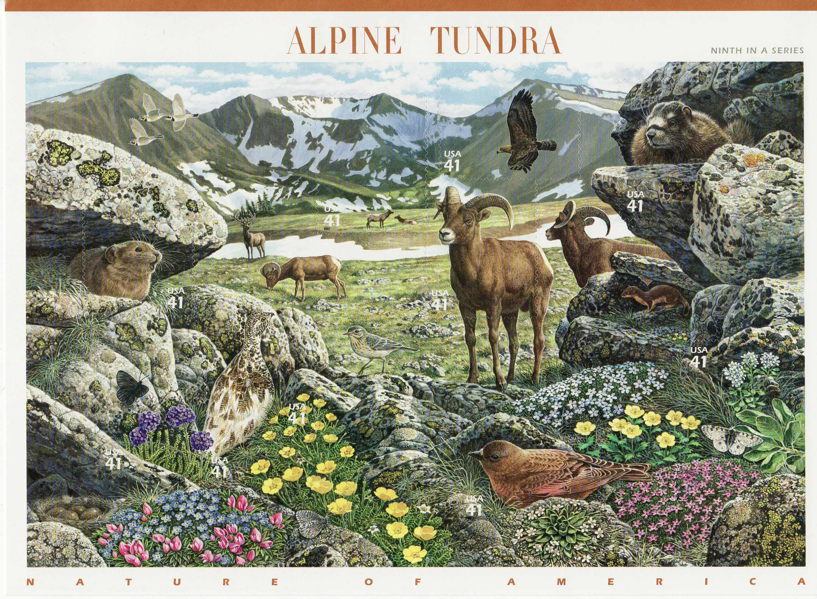 Alpine Tundra stamp sheet