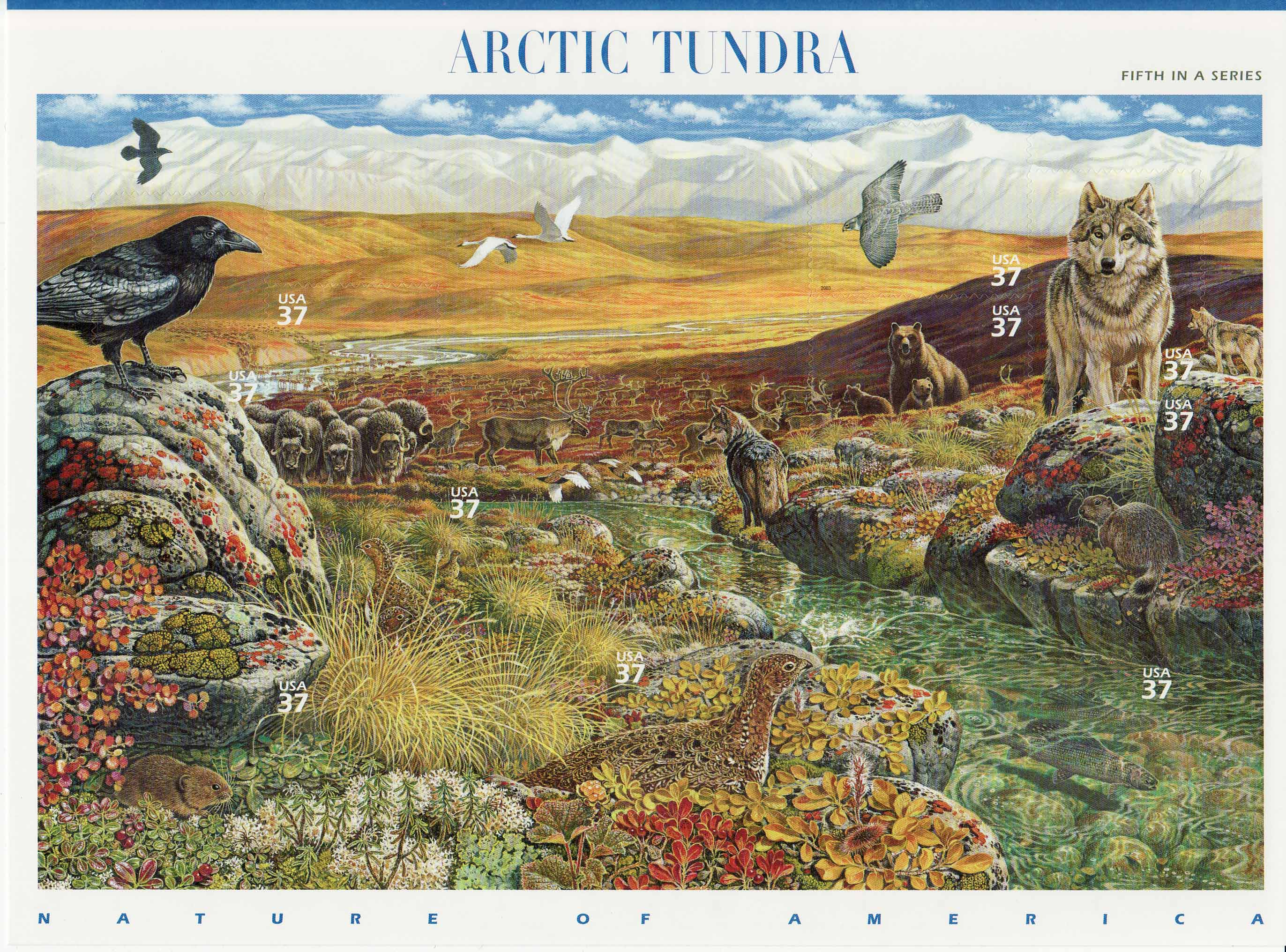 Arctic Tundra stamp sheet